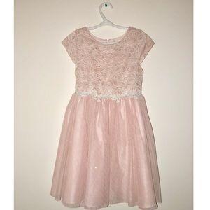 RARE EDITIONS LIGHT PINK GIRLS DRESS
